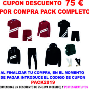 Vale descuento por compra Pack Completo